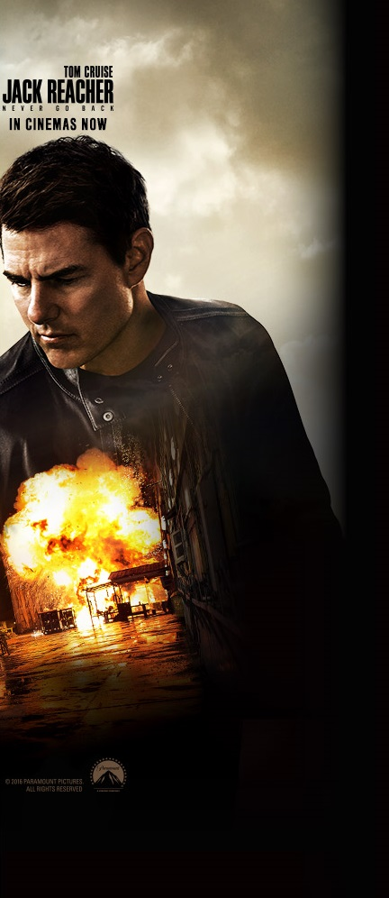 Jack Reacher Never Go Back banner B