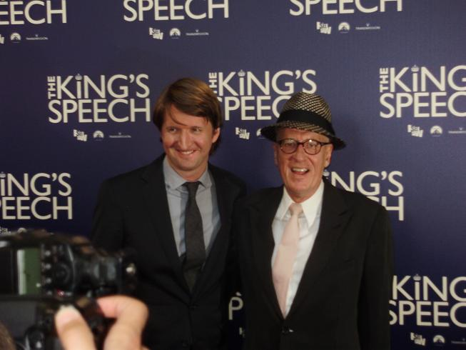 The King's Speech Sydney premiere Geoffrey Rush and Tom Hooper