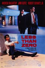 Less Than Zero movie poster