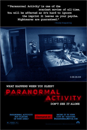 Paranormal Activity psoter