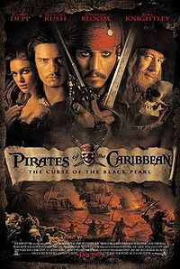 Pirates of the Caribbean: Curse of the Black Pearl movie poster